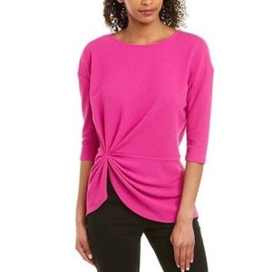 NWT Vince Camuto hot pink 3/4 sleeve top